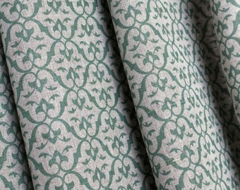 Green and Grey Curtains- Green Curtains- Professional Curtains- Greta Green- 3 Colours- Curtains- Bespoke Curtains- Linen Curtains- Lined