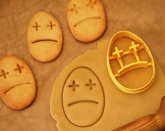 Sad Easter Egg Cookie Cutter/Fondant Cutter