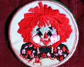 "Vintage 1960's ''Raggedy Ann"" Embroidered Sew -On Patch Very Nice Qualiy!"