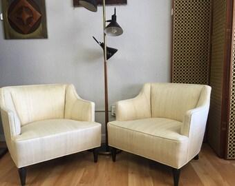 Pair of Hollywood Regency Lounge Chair