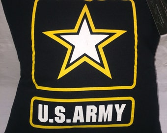 United States Army tshirt Pillow 16x16 Upcycled One of a Kind