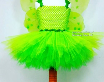 Tinkerbell Inspired Tutu Dress Fairy-Birthday, Party, Photo Prop