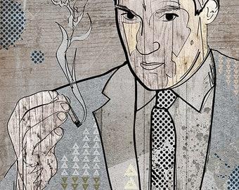 Poster of Don Draper / Mad Men / Pop Art / Illustration / Wall Art / Corporate / Sixties