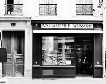 Paris Wall Decor, Black and White, Paris bedroom decor, Paris Print, Paris Photography, Large wall art, Large Modern Print, Paris Art