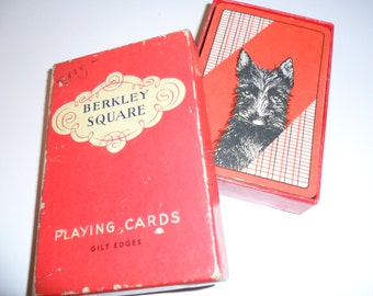 "Vintage ""Berkley Square"" Playing Cards in Original Box"