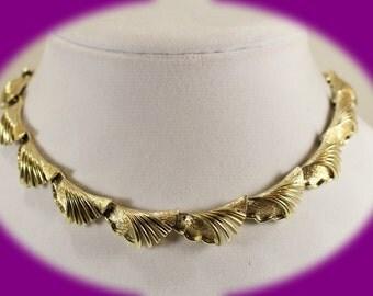 Vintage Coro Chocker/Necklace Gold Tone Chocker Chunly Chocker Vintage Jewelry Wedding Chocker