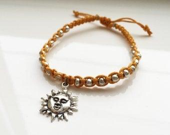 Golden Sun Hemp Bracelet