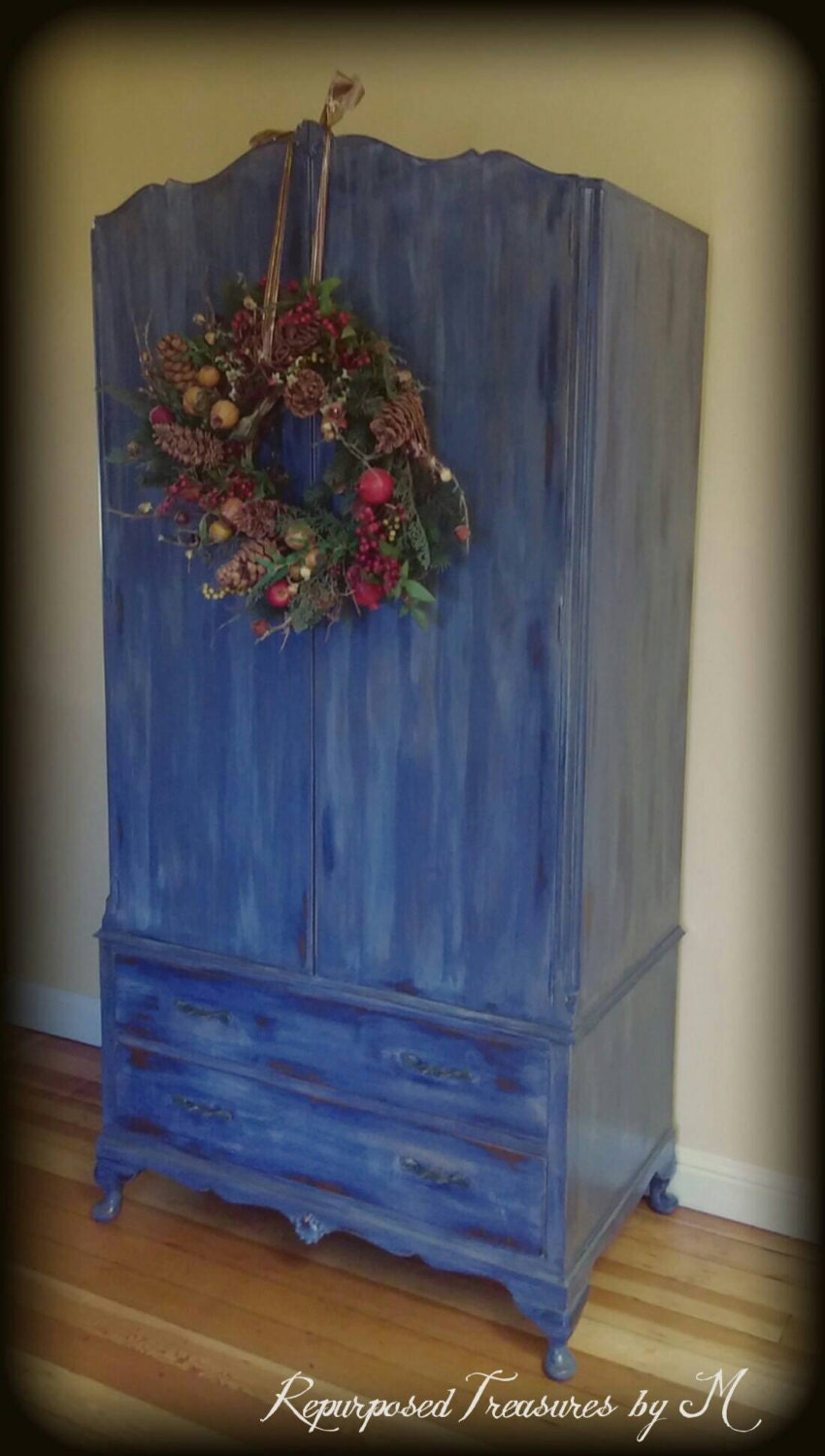 Vintage Armoire Blue Armoire Children S Furniture By