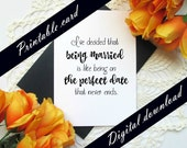 Love Anniversary Spouse Printable Card - Marriage is the Perfect Date  - Valentine's Day