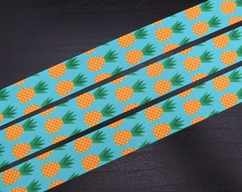 7/8 inch Grosgrain Ribbon - Pineapple - 5 metres