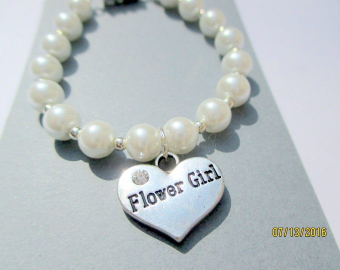 flower girl jewelry-little girls pearl bracelet-Wedding Jewelry-childrens pearl bracelet-sterling silver-flower girl bracelet-toddler pearls