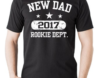 New Dad 2017 Rookie Dept  T-Shirt Gift For Father Tee Shirt