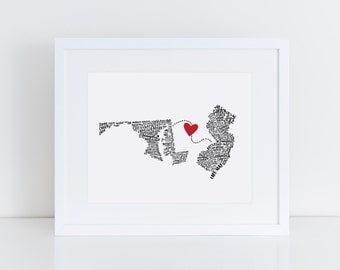 "Custom ""State Your Love"" Print - 8""x10"""