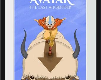 Aang on Appa