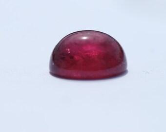 Oval Rubellite Tourmaline Cabochon, Intense Dark Pink Rubellite, 11 x 10 mm, 6.4ct, Brazil, C1327