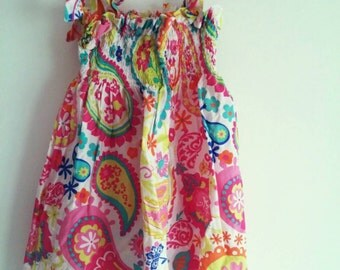 Handmade baby girl summer dress size 6-9 months