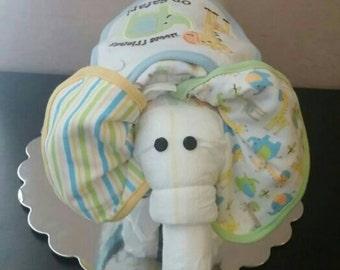Elephant Diaper Cake