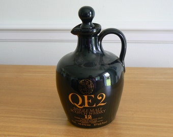 Lovely Collectible Whisky Flagon - QE2 Single Malt Scotch Whisky - 12 Year Old.