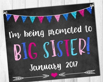 Big Sister/Brother Pregnancy Announcement DIGITAL FILE
