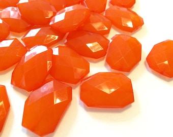 XL 39mm Orange Beads, Chunky Acrylic Beads, Jewelry Making, Necklaces, Bracelets, Earrings Making, Statement Necklaces, Florida Beads Orange