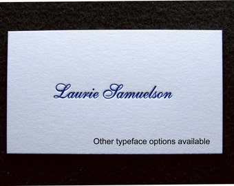 50 Letterpress Calling Cards, Victorian Design, Two Sided - Choice of Font