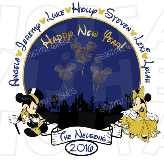 Disney Mickey & Minnie Mouse New Years 2019 PERSONALIZED