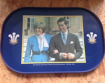 Charles and Diana Original Commemorative Wedding Tray