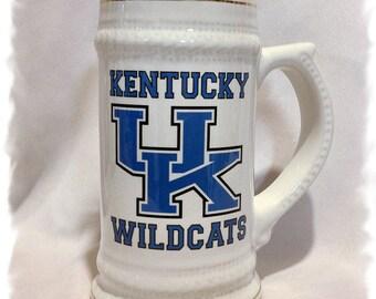 University of Kentucky Wildcats  22 oz Ceramic German Stein