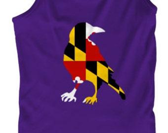 Baltimore Ravens with Maryland Flag Screenprinted Tank