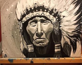 Black Elk Native American Print