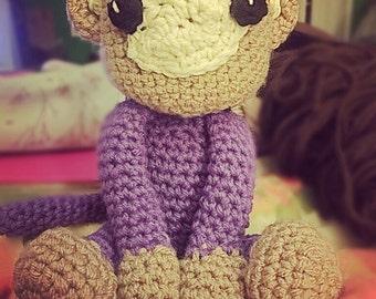 Monkey love, stuffed animal, crochet, amigurami