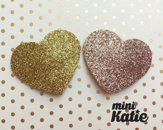 mini Katie Glitter Heart Hair Barrette Hair clip Adorable Glitter hair Accessory for Baby Girls Toddlers Kids Handmade