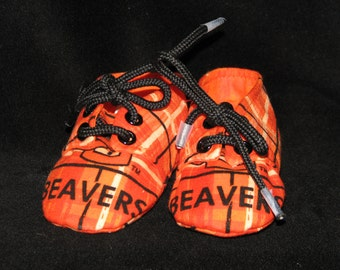 Oregon State Beaver's Sneaker Style Baby Booties