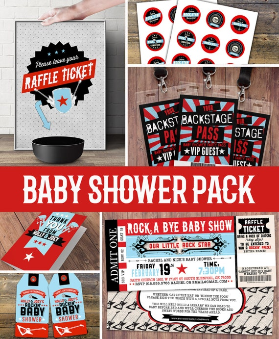 Party pack party decorations coed baby shower invitation for Baby shower decoration packs
