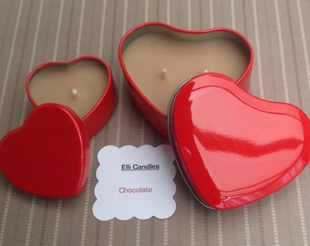 Scented Heart shaped tea lights in lovely red tins...perfect for someone special!