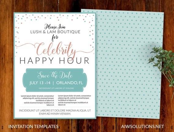 happy hour invitation templates