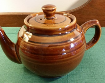 Brown Glazed Pottery Teapot Made in China