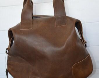 Travel bag cowhide leather bag art Rihanna