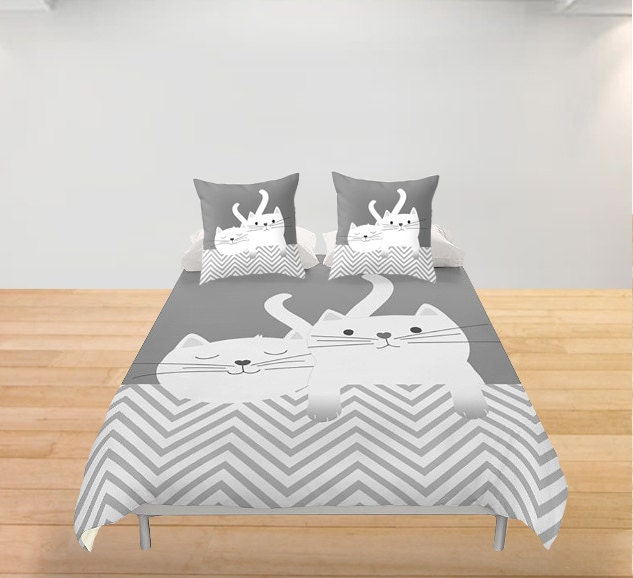 Matrimonio Bed Cover : Cats duvet cover kittens personalized twin full king queen