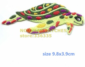 10 Marine Sea Turtle Iron On Applique Animal Patch Motif Clothing Craft