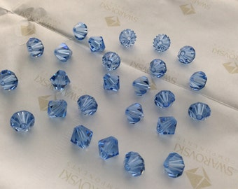 Swarovski #5301 Crystal Light Sapphire Bicone Faceted Beads 3mm 6mm 8mm