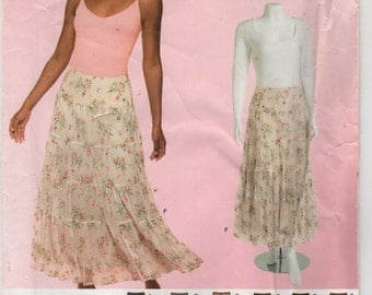 Simplicity Pattern 0500 Misses' Tiered Skirts Size H5 (6-14) UNCUT