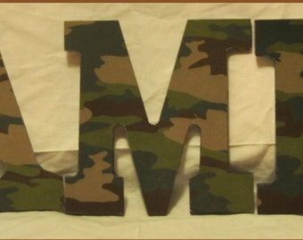 Classic Camouflage Wood Letters