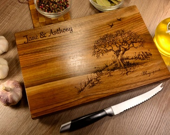 Wedding Cutting Board, Personalized Cutting Board