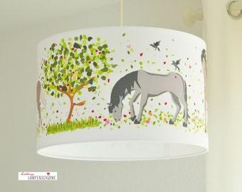 Lampshade horses