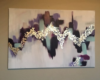 Purple and Gold Leaf Abstract