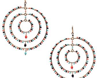 Multi Color Hoops