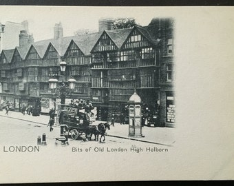 Vintage London - High Holborn postcard! Late 1800s-early 1900s!