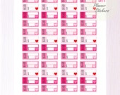 DIY Planner Stickers | PDF Download - Pay Bill Tracker for Erin Condren or Happy Planners Vertical