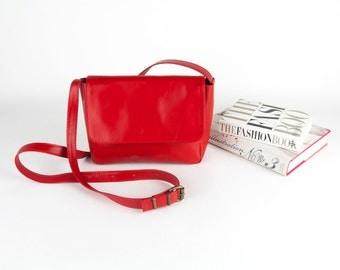 Shoulder Bag, Leather Shoulder Bag, Red Leather Bag, Traveller Bag, Crossbody Leather Bag, Leather Over the Shoulder Bag